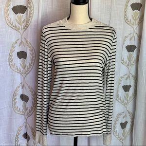 Gap Long Sleeve Button Shoulder Knit Shirt Wo Sz L